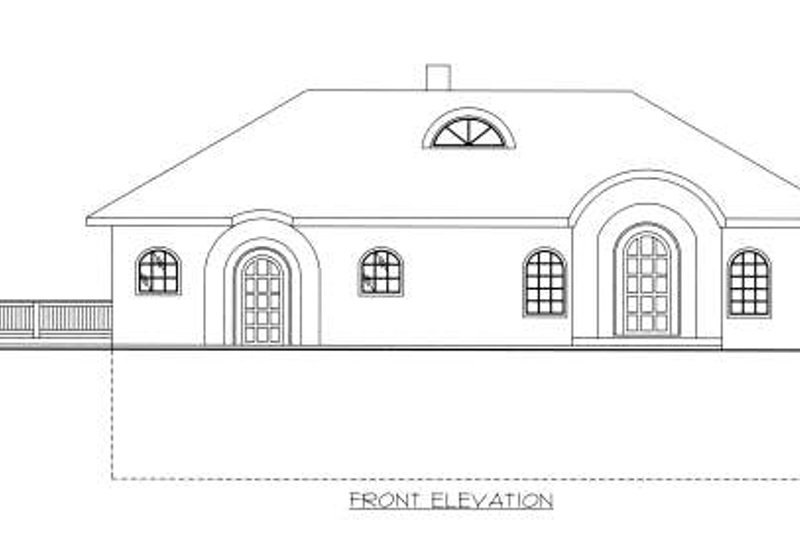 Exterior - Other Elevation Plan #117-570 - Houseplans.com