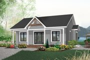 Cottage Style House Plan - 2 Beds 1 Baths 910 Sq/Ft Plan #23-512 Exterior - Front Elevation