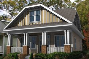 Craftsman Exterior - Front Elevation Plan #461-11