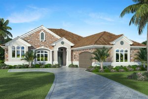 Architectural House Design - Country Exterior - Front Elevation Plan #938-48
