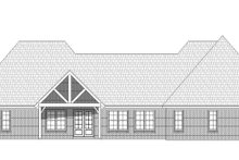 Country Exterior - Rear Elevation Plan #932-313