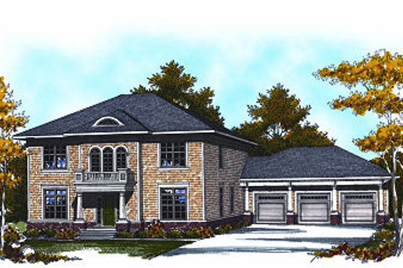 House Plan Design - European Exterior - Front Elevation Plan #70-882