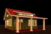 Craftsman Style House Plan - 1 Beds 1 Baths 484 Sq/Ft Plan #917-38