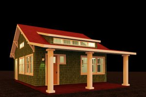 Craftsman Exterior - Front Elevation Plan #917-38