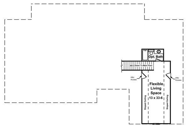 Country Floor Plan - Upper Floor Plan Plan #21-416