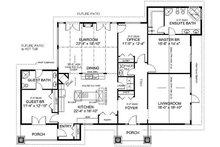 Country Floor Plan - Main Floor Plan Plan #126-218