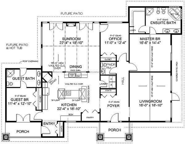 Dream House Plan - Country Floor Plan - Main Floor Plan #126-218