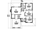 Country Style House Plan - 4 Beds 2 Baths 3500 Sq/Ft Plan #25-4684 Floor Plan - Upper Floor
