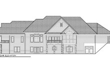 European Exterior - Rear Elevation Plan #70-1011