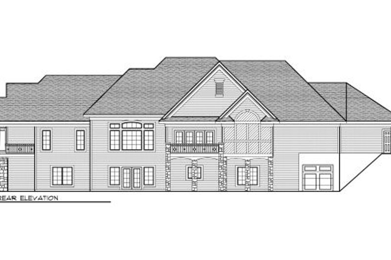 European Exterior - Rear Elevation Plan #70-1011 - Houseplans.com