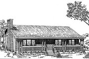 Ranch Style House Plan - 3 Beds 2 Baths 1356 Sq/Ft Plan #47-121