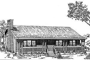 Ranch Exterior - Front Elevation Plan #47-121