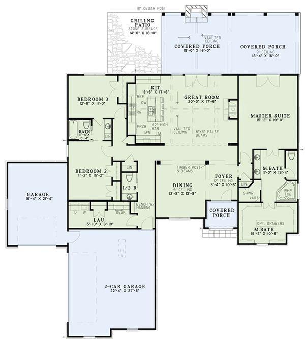 European Floor Plan - Main Floor Plan Plan #17-2549