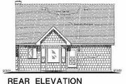 Country Style House Plan - 3 Beds 2 Baths 1311 Sq/Ft Plan #18-299 Exterior - Rear Elevation