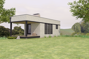 Modern Exterior - Front Elevation Plan #914-2