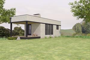 Modern Exterior - Front Elevation Plan #914-2