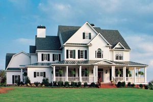 Country Exterior - Front Elevation Plan #927-37