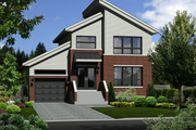 Contemporary Style House Plan - 3 Beds 1 Baths 1385 Sq/Ft Plan #25-4719 Exterior - Front Elevation