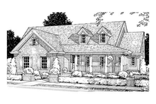 Dream House Plan - craftsman home front elevation