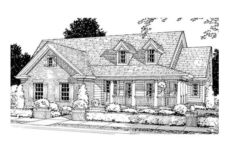 House Plan Design - craftsman home front elevation