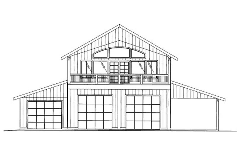 Farmhouse Style House Plan - 2 Beds 2.5 Baths 1660 Sq/Ft Plan #117-796