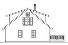House Plan Design - Cottage Exterior - Rear Elevation Plan #124-473