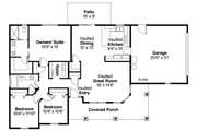 Craftsman Style House Plan - 3 Beds 2 Baths 1484 Sq/Ft Plan #124-695 Floor Plan - Main Floor Plan