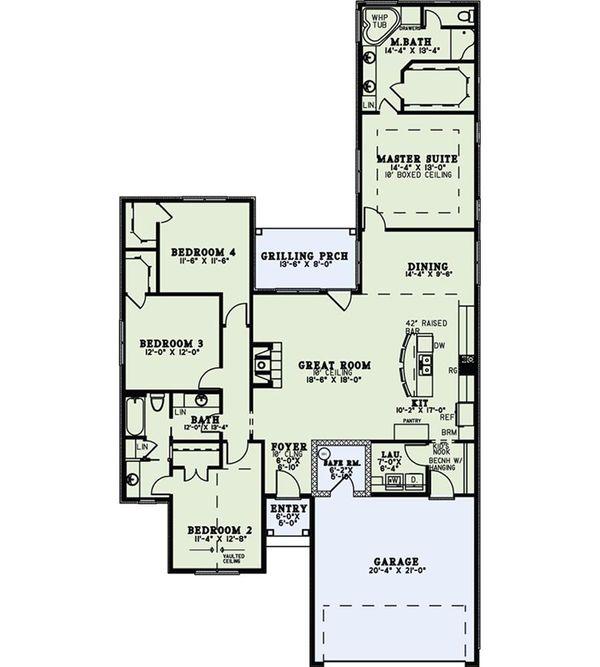 European Floor Plan - Main Floor Plan Plan #17-2540