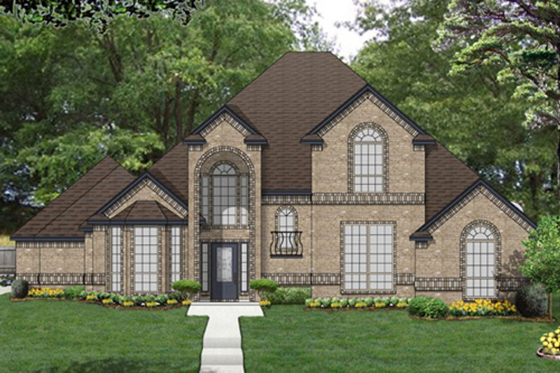 Traditional Exterior - Front Elevation Plan #84-557 - Houseplans.com