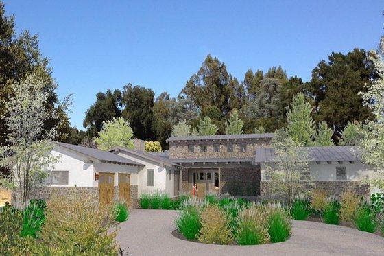 Modern Exterior - Front Elevation Plan #484-9