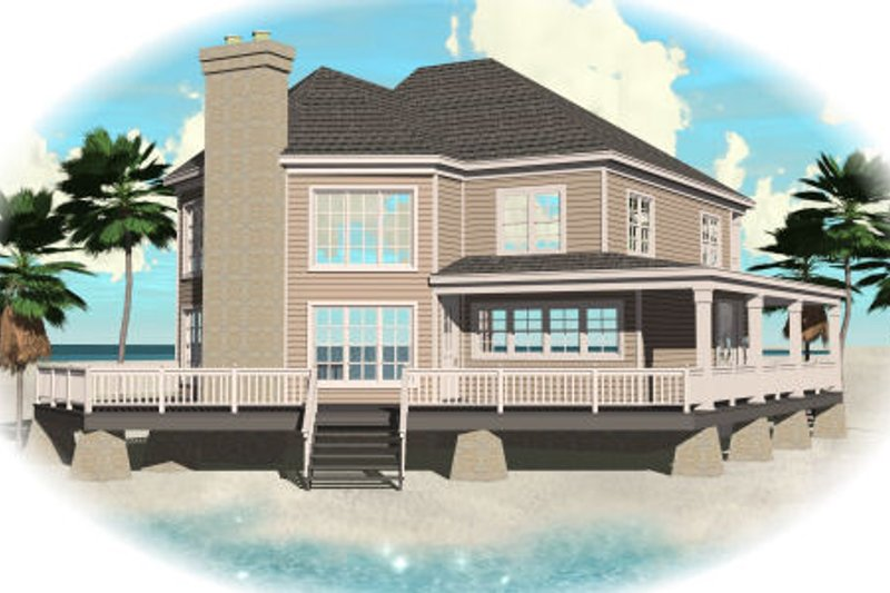 Traditional Style House Plan - 3 Beds 2.5 Baths 2827 Sq/Ft Plan #81-13759 Exterior - Front Elevation