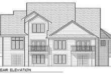 Dream House Plan - Traditional Exterior - Rear Elevation Plan #70-654