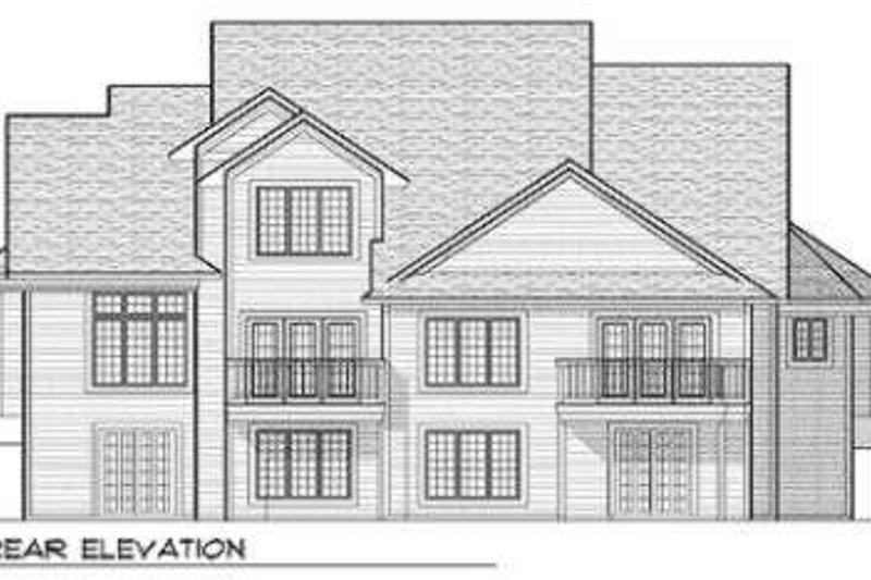 Traditional Exterior - Rear Elevation Plan #70-654 - Houseplans.com