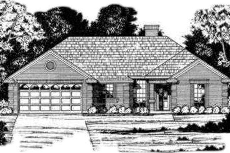Traditional Style House Plan - 4 Beds 3 Baths 1586 Sq/Ft Plan #40-295 Exterior - Front Elevation