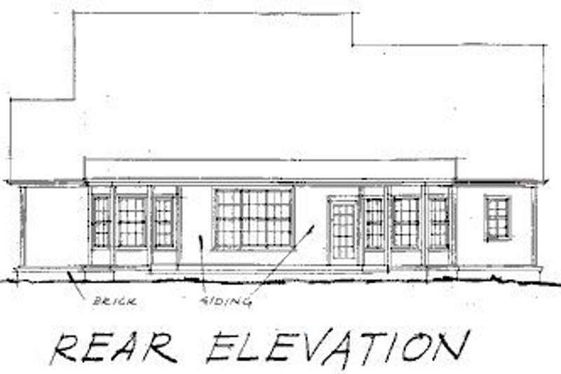 Farmhouse Exterior - Rear Elevation Plan #20-192 - Houseplans.com