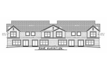Dream House Plan - Traditional Exterior - Rear Elevation Plan #20-2382