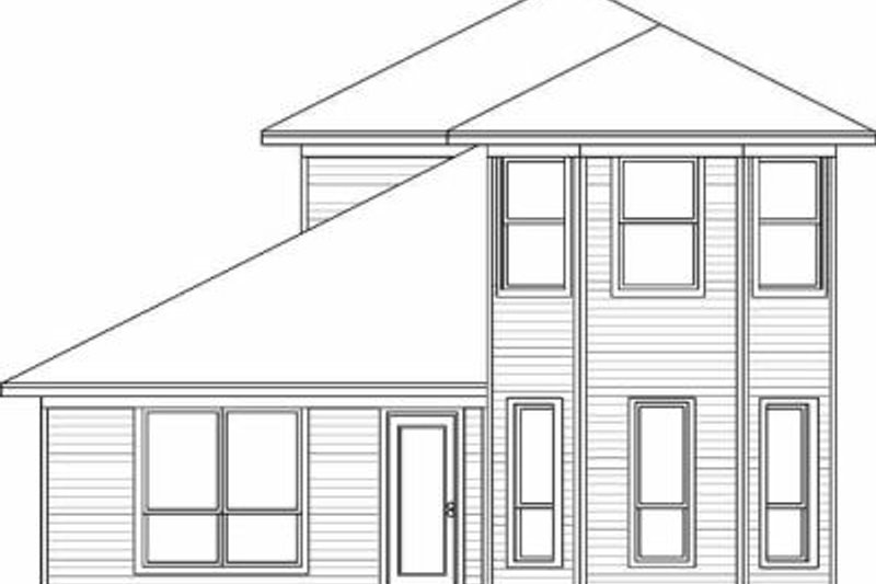 Traditional Exterior - Rear Elevation Plan #84-109 - Houseplans.com