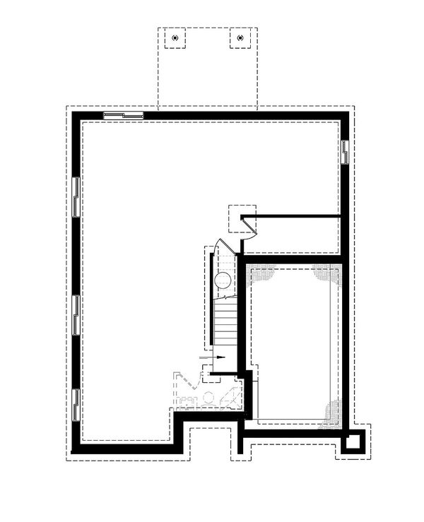 Architectural House Design - Unfinished Basement Foundation