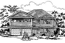 House Blueprint - European Exterior - Front Elevation Plan #18-158
