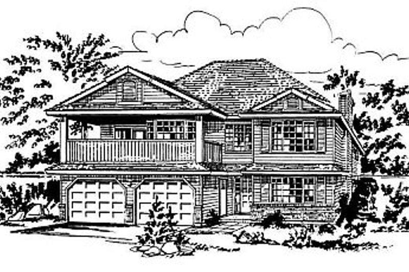 House Blueprint - European Exterior - Front Elevation Plan #18-158