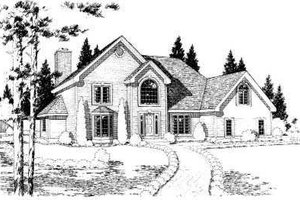 Traditional Exterior - Front Elevation Plan #75-122