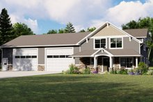 Dream House Plan - Country Exterior - Front Elevation Plan #1064-74