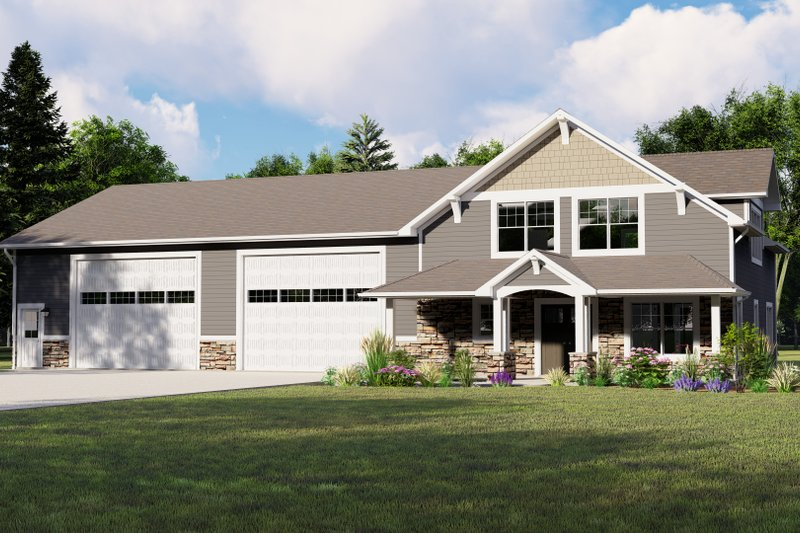 House Plan Design - Country Exterior - Front Elevation Plan #1064-74