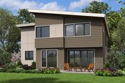 Contemporary Style House Plan - 4 Beds 2.5 Baths 2869 Sq/Ft Plan #48-676 Exterior - Rear Elevation