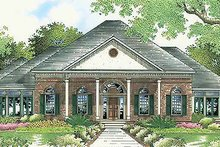 Southern Exterior - Front Elevation Plan #45-316