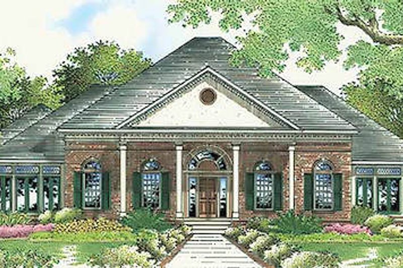 Dream House Plan - Southern Exterior - Front Elevation Plan #45-316
