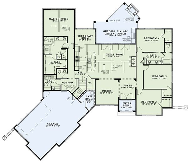 European Floor Plan - Main Floor Plan #17-2557