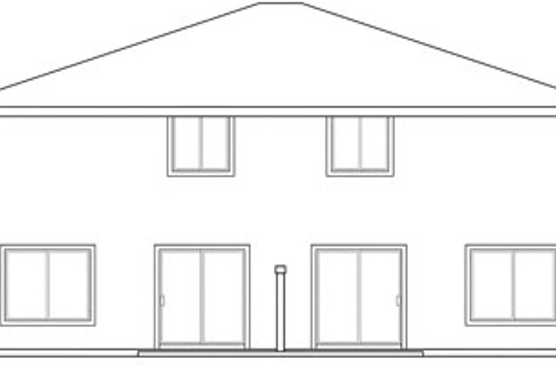 Traditional Exterior - Rear Elevation Plan #124-816 - Houseplans.com