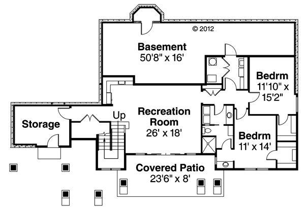 Prairie Floor Plan - Lower Floor Plan Plan #124-873