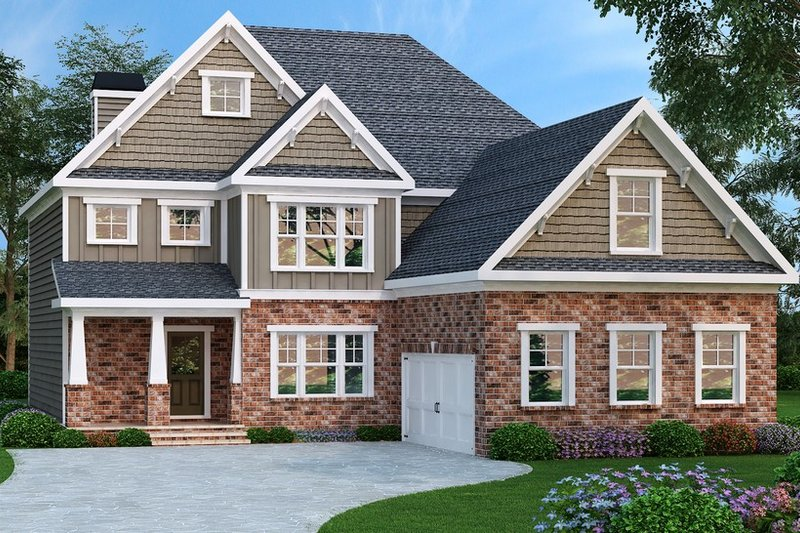 Traditional Style House Plan - 4 Beds 3 Baths 2872 Sq/Ft Plan #419-278 Exterior - Front Elevation